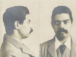 A mugshot of George Edalji after his arrest.