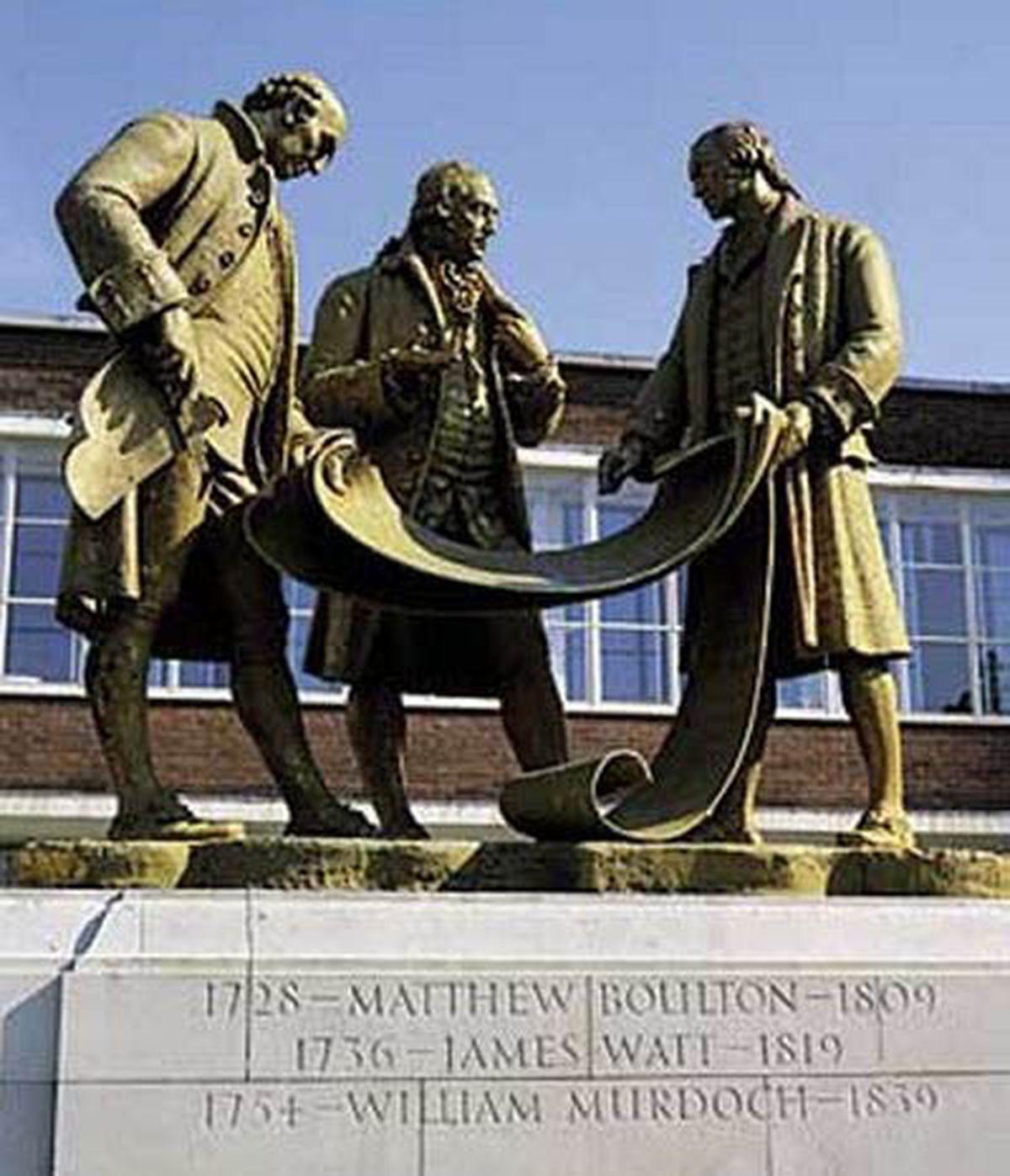 Birmingham's statue of Boulton, Watt and Murdoch