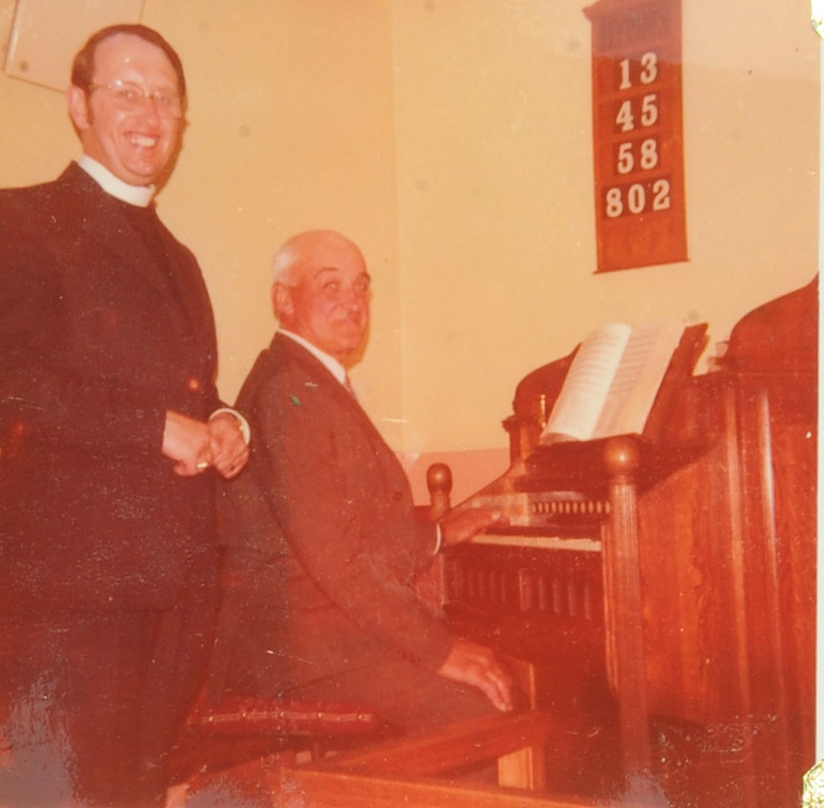 Organist Jim Powell served for more than 50 years service