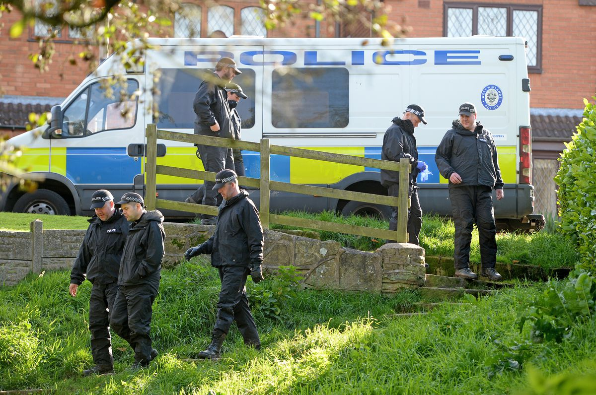 Woodland, lakes and graveyards were searched as part of the investigation