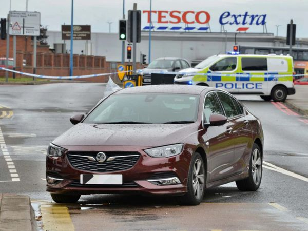 The scene following the incident in Cradley Heath. Pic: SnapperSK