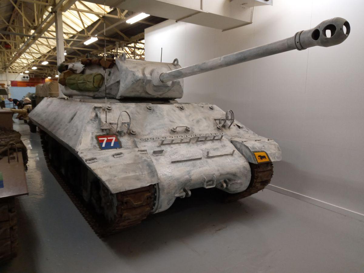 M10 Tank Destroyer in winter camouflage