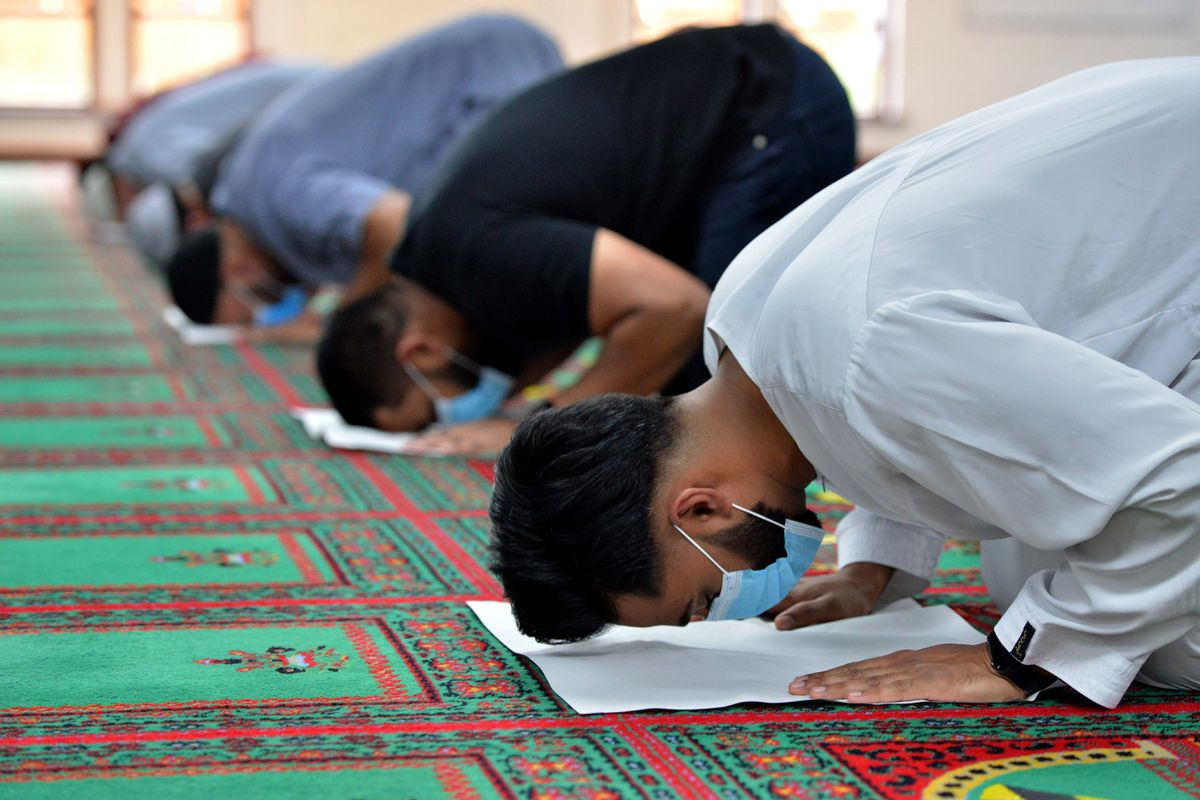 Worshippers have been able to come back to their mosque to pray after nearly four months of closure