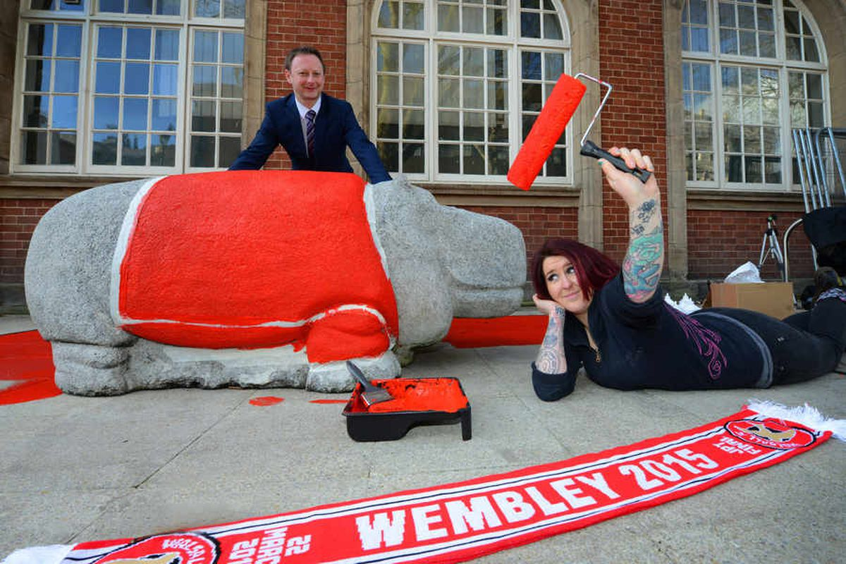 Walsall gets red-dy for Wembley