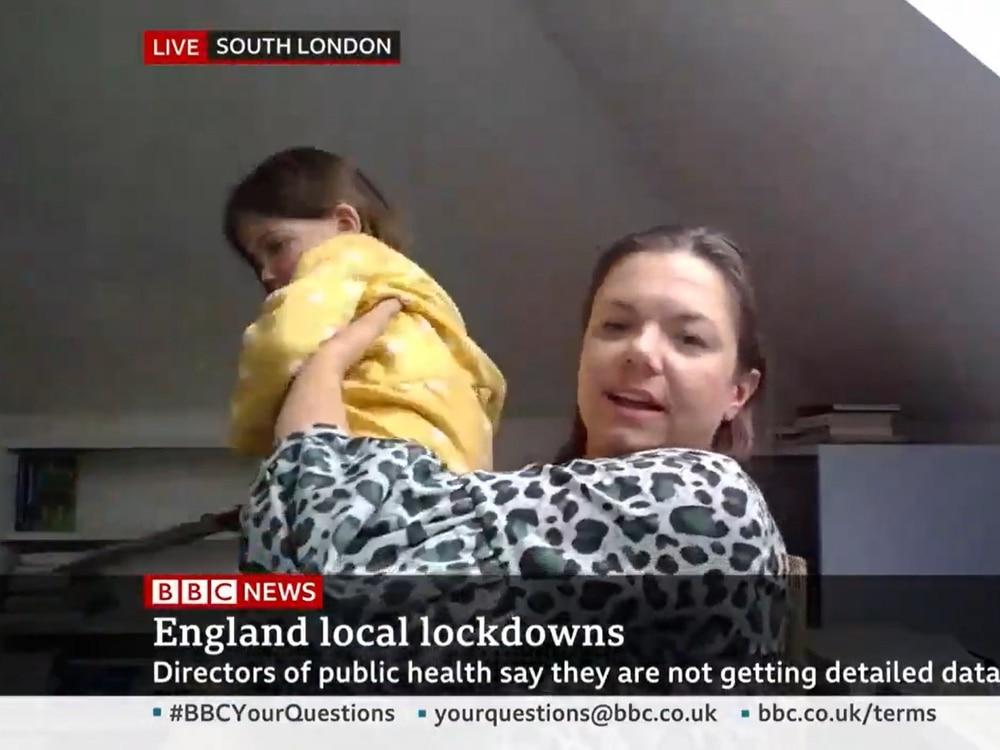 Children crash mothers' live TV interviews in viral videos
