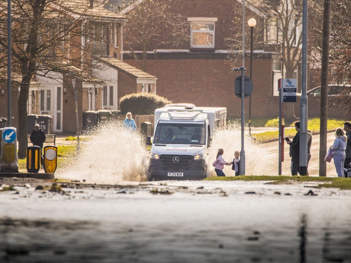 Flooding on Stowheath Lane after a water main burst earlier inthe month. Photo: Paul Rush