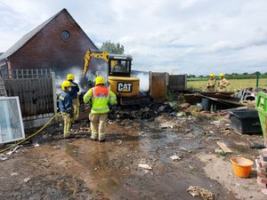 15 firefighters from Cannock, Penkridge and Stafford were present at the fire (Image by Staffordshire Fire and Rescue)