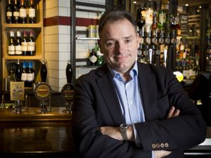 Ralph Findlay, Marston's chief executive officer at The Oddfellows in Compton, Wolverhampton.