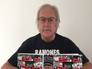 Don Evitts with his book