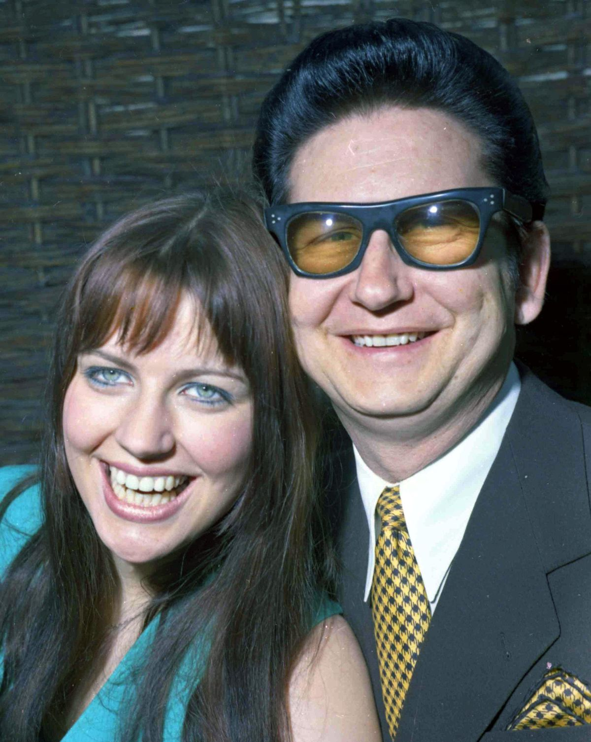 Roy Orbison with his then 18-year-old wife Barbara and mum of Roy Jr in 1969