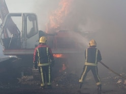 Fire rips through scrapyard in Kingswinford