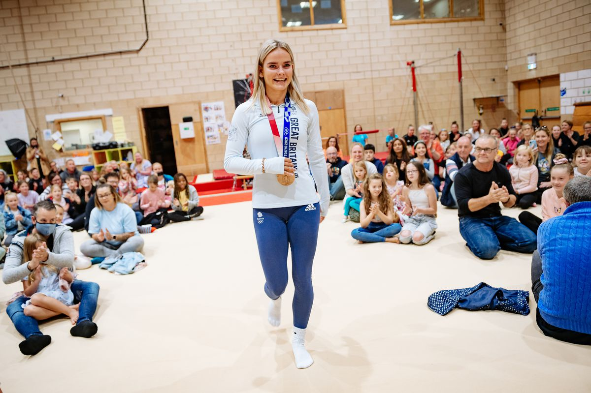 Olympian Alice Kinsella receives a Welcome Home Party at Park Wrekin Gymnastics Club in Wellington