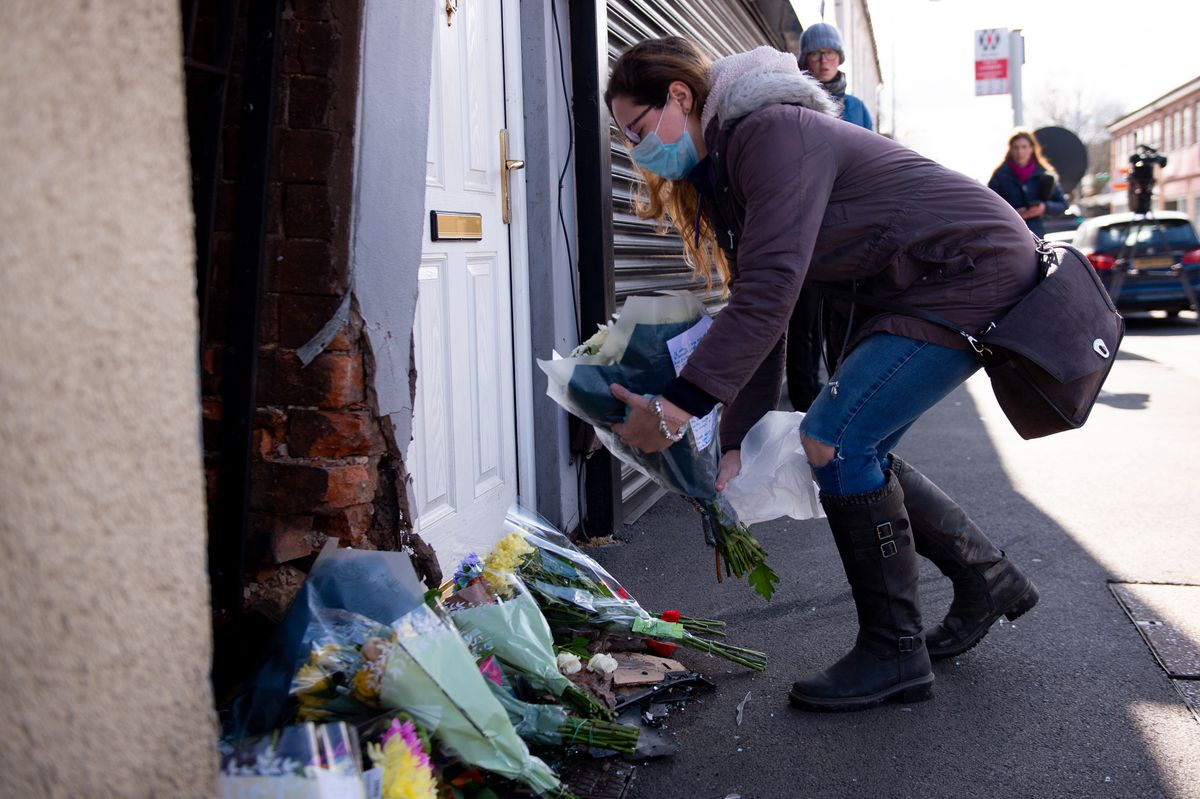 People have been leaving flowers at the site of the crash