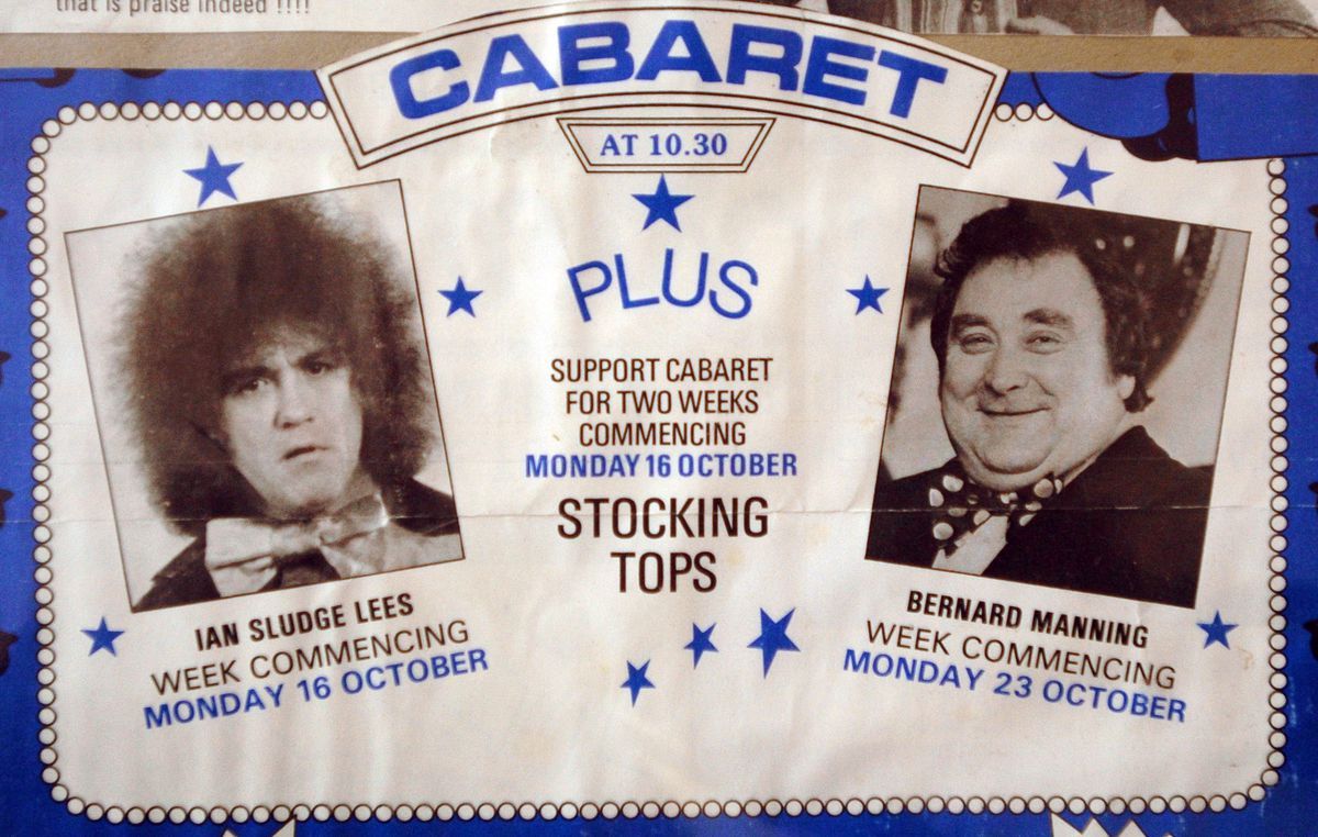 An old flyer for Sludge and Bernard Manning