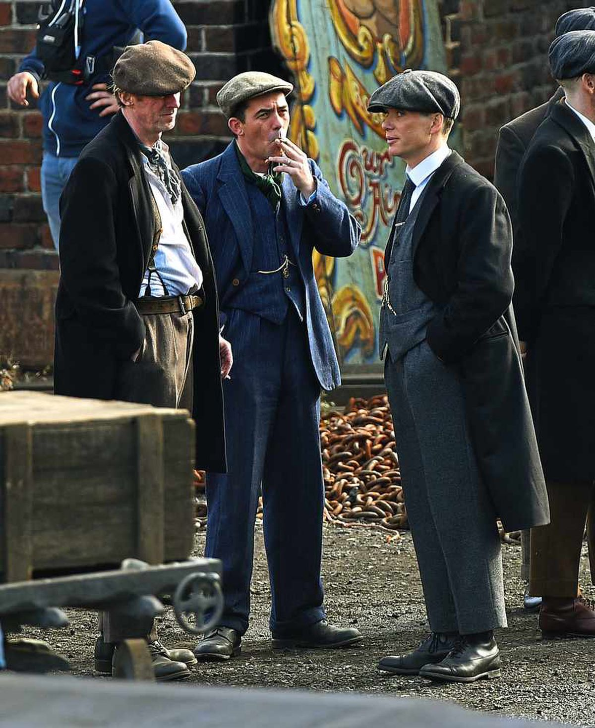 Cillian filming his Peaky Blinders role at the Black Country Living Museum