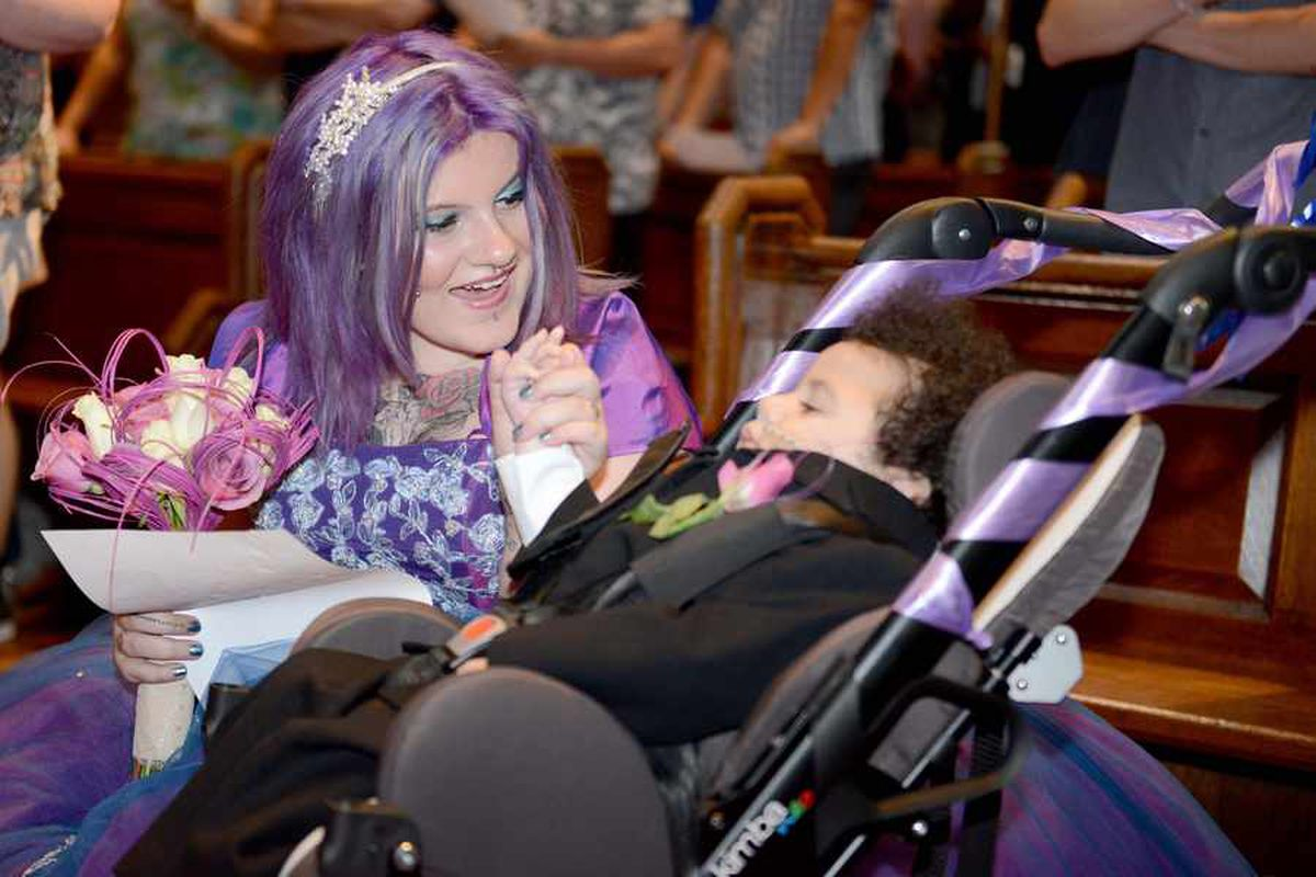 I just wanted him to see me 'married', says terminally ill Wolverhampton boy's mother