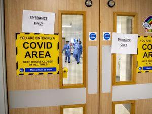 Coronavirus ward sign