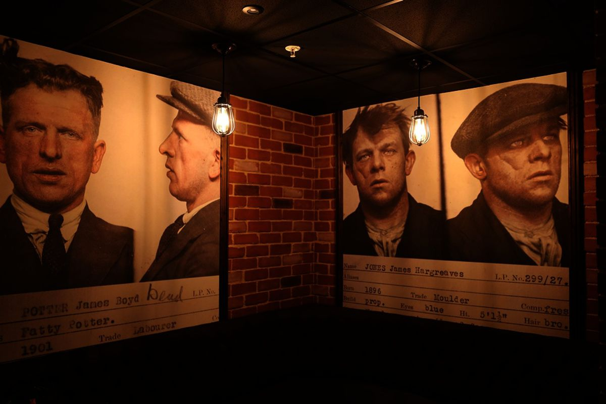 Inside the bar, The Garrison, at Arena Birmingham themed around the 1920s and the Peaky Blinders