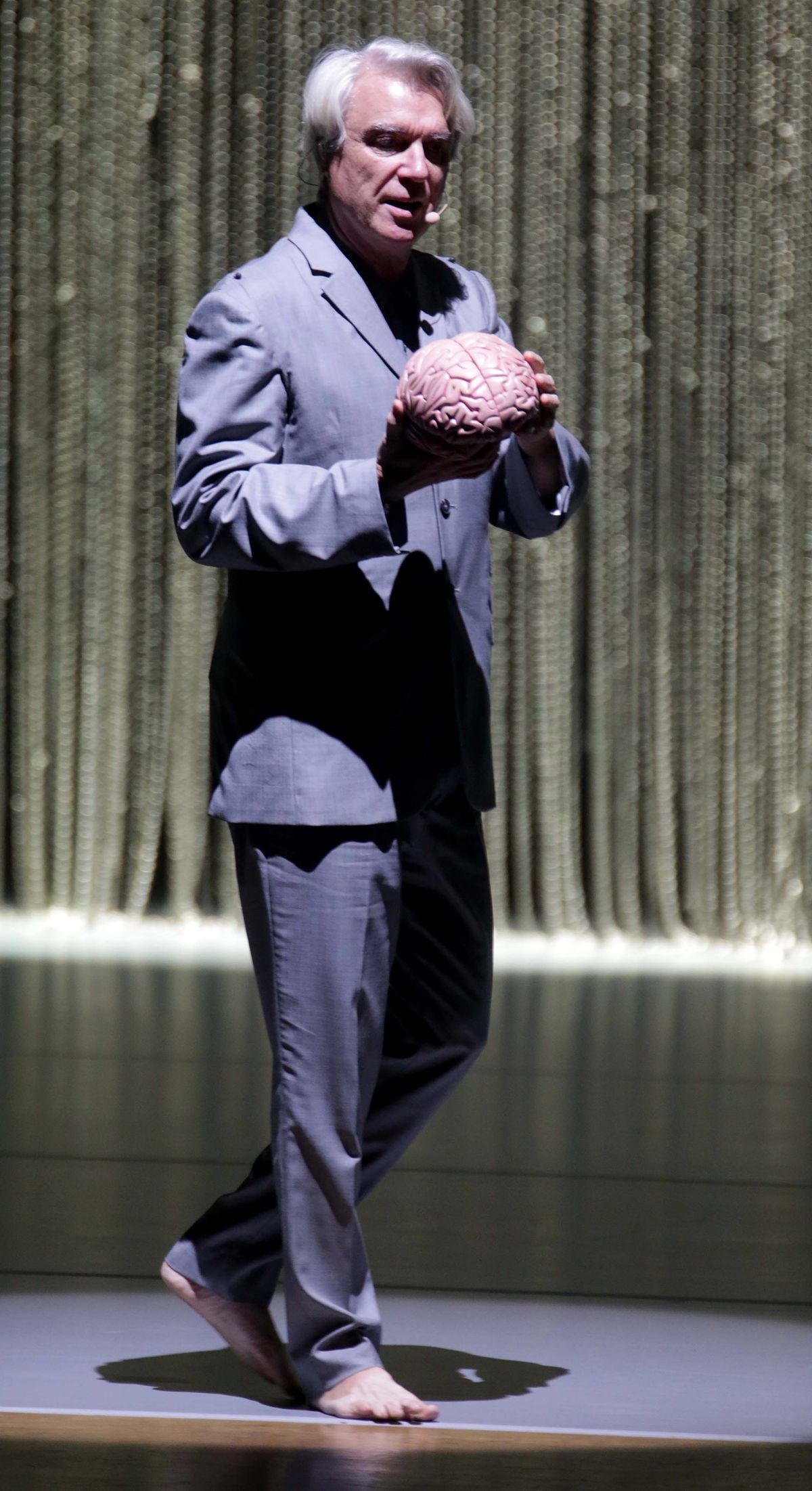 David Byrne performing Here. Pictures by: Andy Shaw