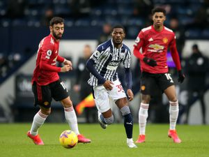 """West Bromwich Albion's Ainsley Maitland-Niles during the Premier League match at the Hawthorns, West Bromwich. Picture date: Sunday February 14, 2021. PA Photo. See PA story SOCCER West Brom. Photo credit should read: Nick Potts/PA Wire. RESTRICTIONS: EDITORIAL USE ONLY No use with unauthorised audio, video, data, fixture lists, club/league logos or """"live"""" services. Online in-match use limited to 120 images, no video emulation. No use in betting, games or single club/league/player publications.."""