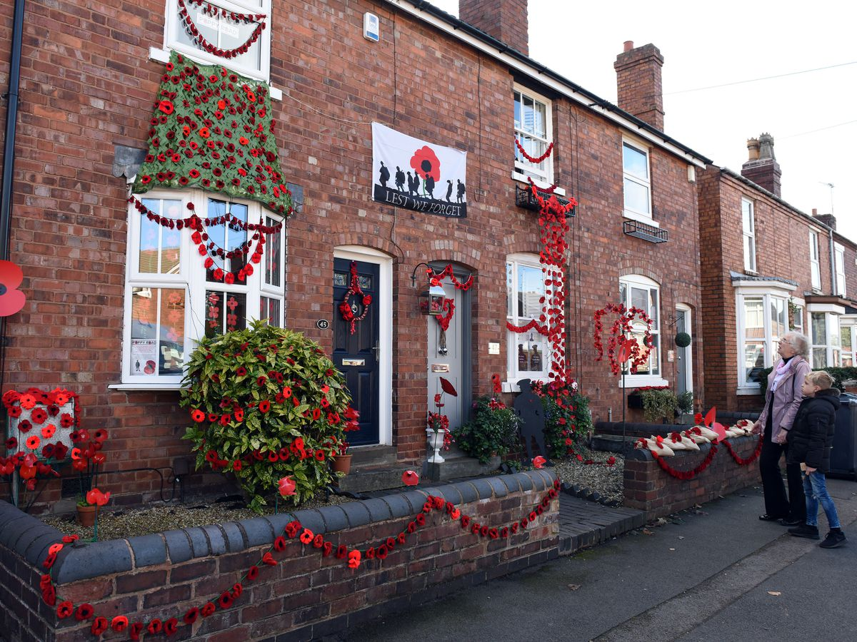 One of the homes which has been decorated