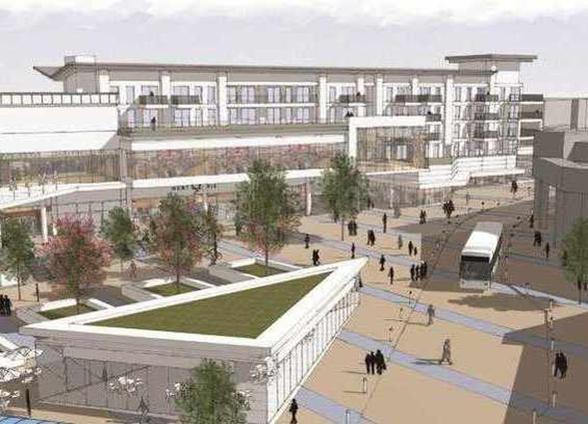 Artist's impressions of how the Porters Field development will look