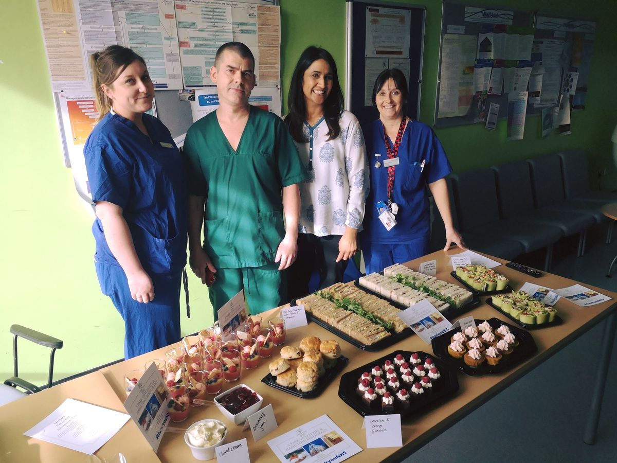 Park View Hotel & Hamiltons Restaurant in Wolverhampton provided a tasty selection of sandwiches and cakes for New Cross Hospital staff
