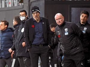 Albion boss Slaven Bilic and his backroom staff sported poppies crocheted by fan Joan Taylor (AMA)