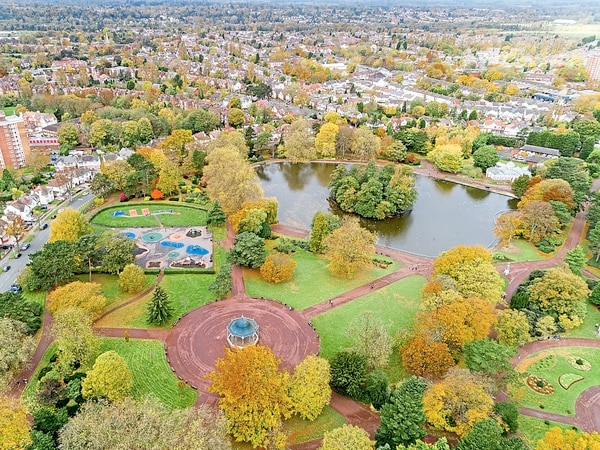 Wolverhampton's West Park snapped from the skies in picture to feature at city's art gallery
