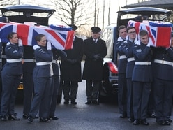Hundreds at funeral of Dambusters RAF couple who died 10 days apart