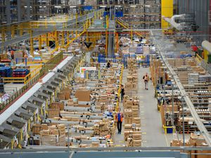 Inside the huge Amazon warehouse at Rugeley