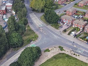 The crash happened at the junction of Coppice Road and Brownhills Road, pictured. Photo: Google