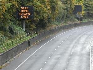 An empty M4 near Newport on Sunday (Ben Birchall/PA)