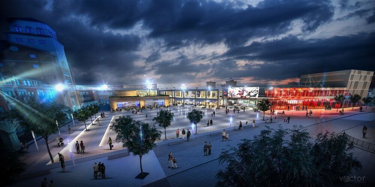 An artist's impression of the £55 million Westside development in Wolverhampton