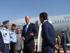 William receives football-themed gifts on visit to Jordan