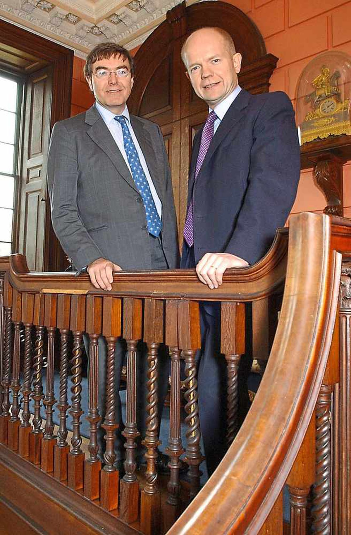Philip Dunn, now MP for Ludlow, with former Conservative leader William Hague at Davenport House