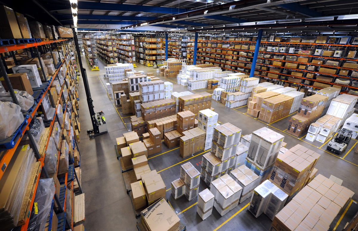 Inside the Argos distribution centre at Acton Gate