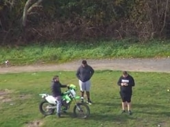 WATCH: Police release drone video after motorbike driven at officer in Dudley