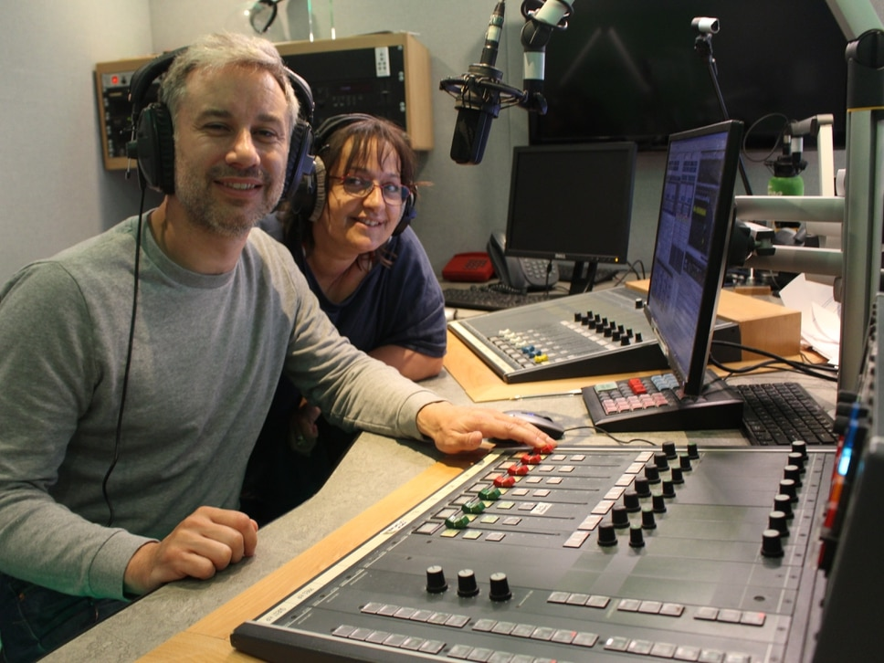 Jo and Ed take their radio skills out to schoolchildren