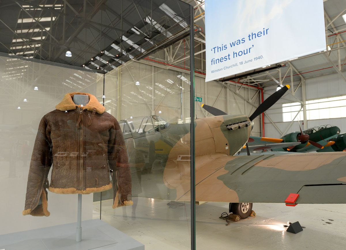 A flying jacket which belonged to Wing Commander James Nicolson, who was awarded the Victoria Cross