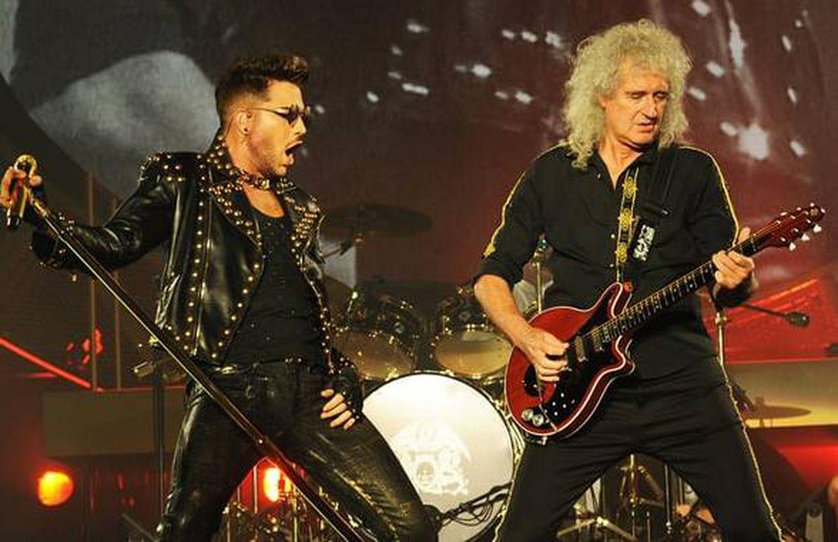 Under pressure – Adam Lambert with Brian May