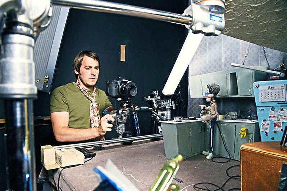 Lights, camera, action – Drew gets filming