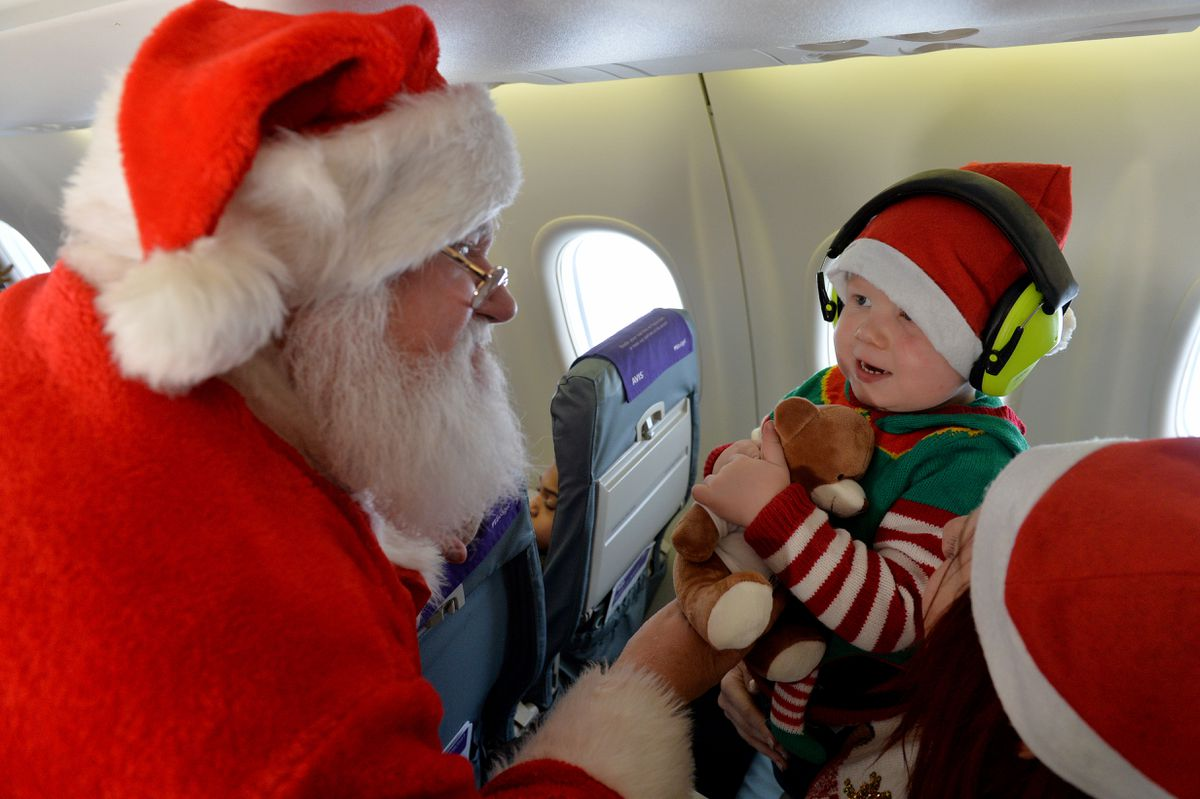 Jacob Leese from Rugeley meets Santa