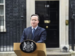 David Cameron making a statement