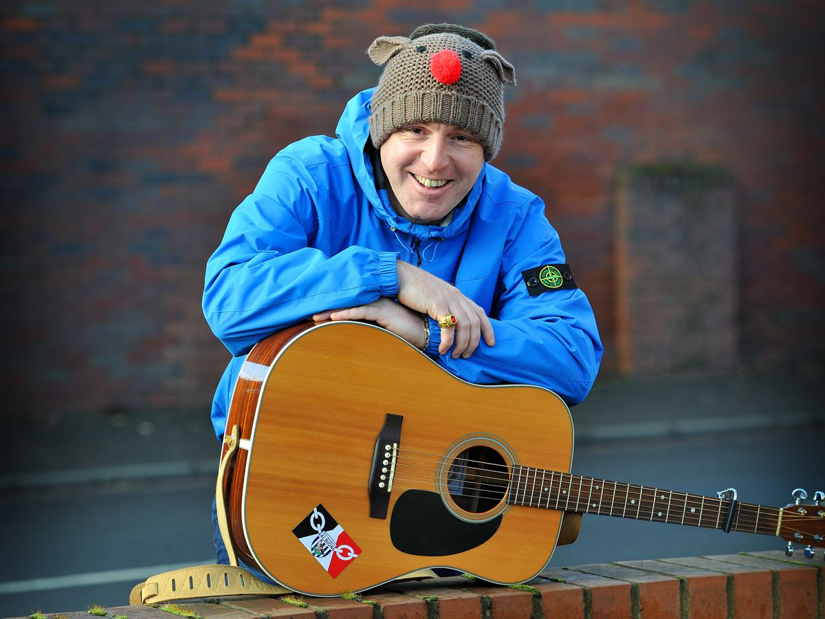 SANDWELL COPYRIGHT EXPRESS&STAR TIM THURSFIELD-26/11/20 Tom Greenhalgh who goes by the name 'Tom from West Brom' has written a comedy Black Country version of Christmas classic A fairytale of New York..