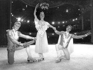 Yuri Zimbaliuk, Natalia Pestova, and Alexei Kislitzin from the cast of Sleeping Beauty
