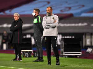 Nuno wants to see a much better performance than what he got from Wolves in their last away game, the 4-0 defeat at West Ham (PA)