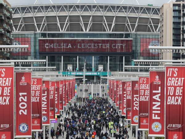Fans before FA Cup Final at Wembley Stadium in May