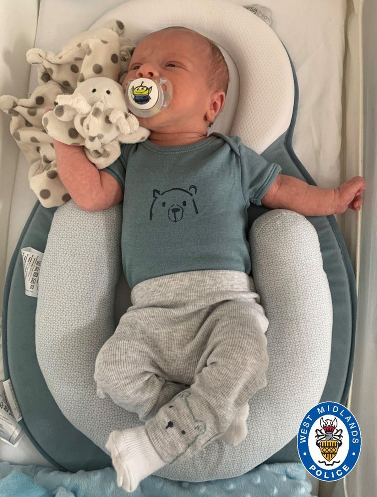 Ciaran Leigh Morris was two weeks old