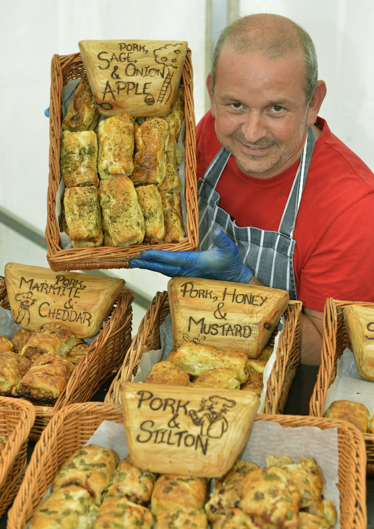 Kevin Latham from Pig in the Middle Artisan Sausage Rolls in Cornwall at the Great British Food Festival